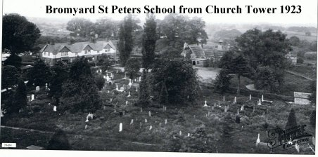 St Peters School from Church Tower 1923.jpg - 103238 Bytes