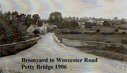 Petty Bridge, Bromyard to Worcester Road 1906.jpg - 103238 Bytes