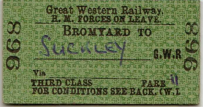 Bromyard to Suckley Rail ticket 1953.jpg - 103238 Bytes